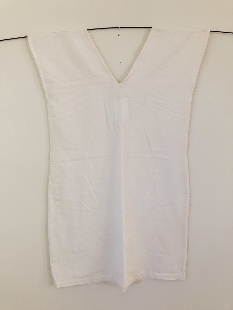 Summer Shift Dress - Natural White - Size Large
