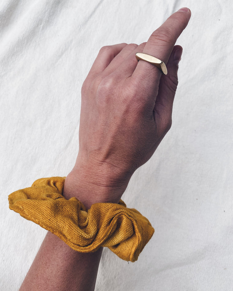 Scrunchie - Saffron Yellow