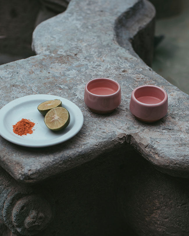 Pair of Mezcal Cups - Petal Pink