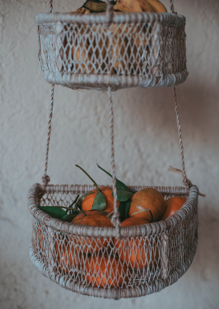 Media Luna Hanging Bark Basket