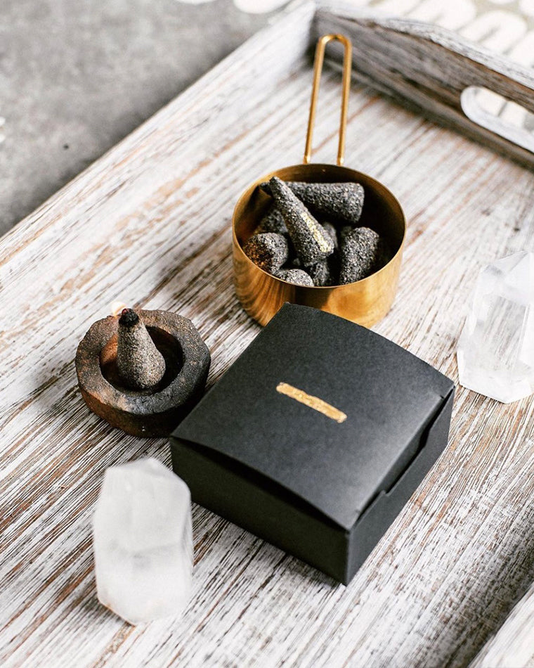 Copal Incense Cone + Burner Set