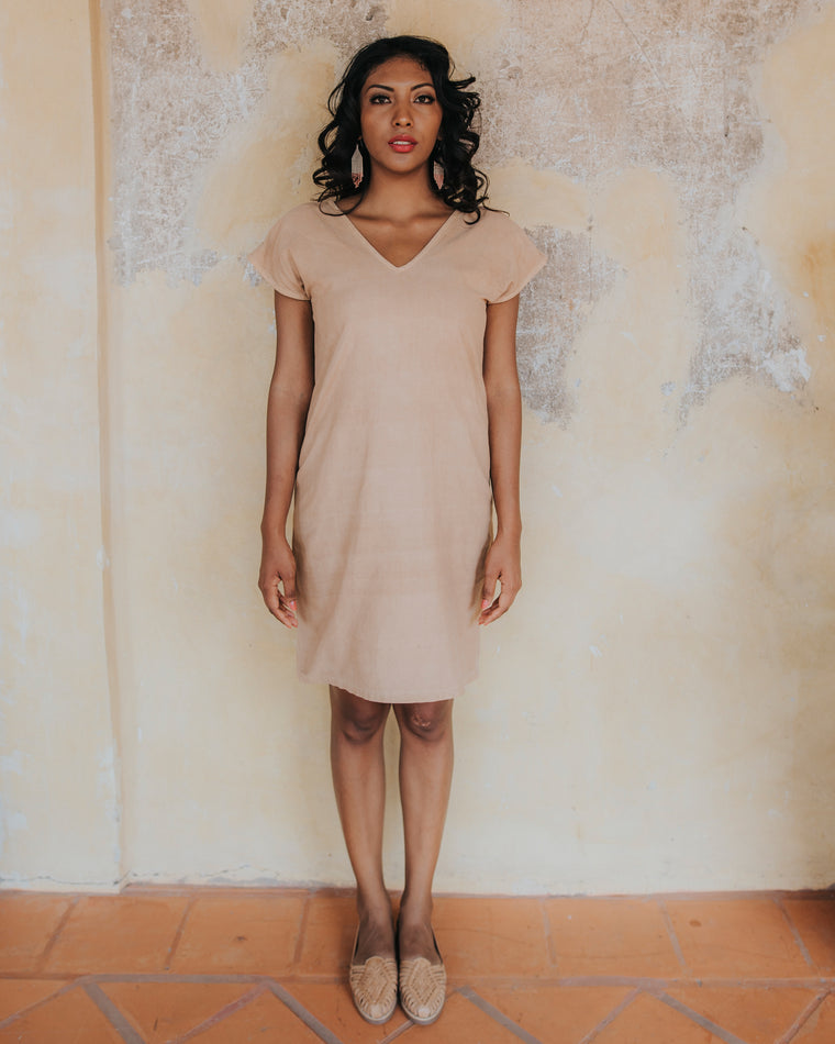 Summer Shift Dress - Rose Clay - Size Small