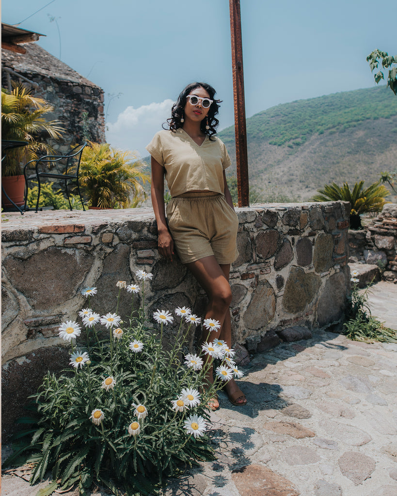 Perfect Crop Shirt - Desert Sand