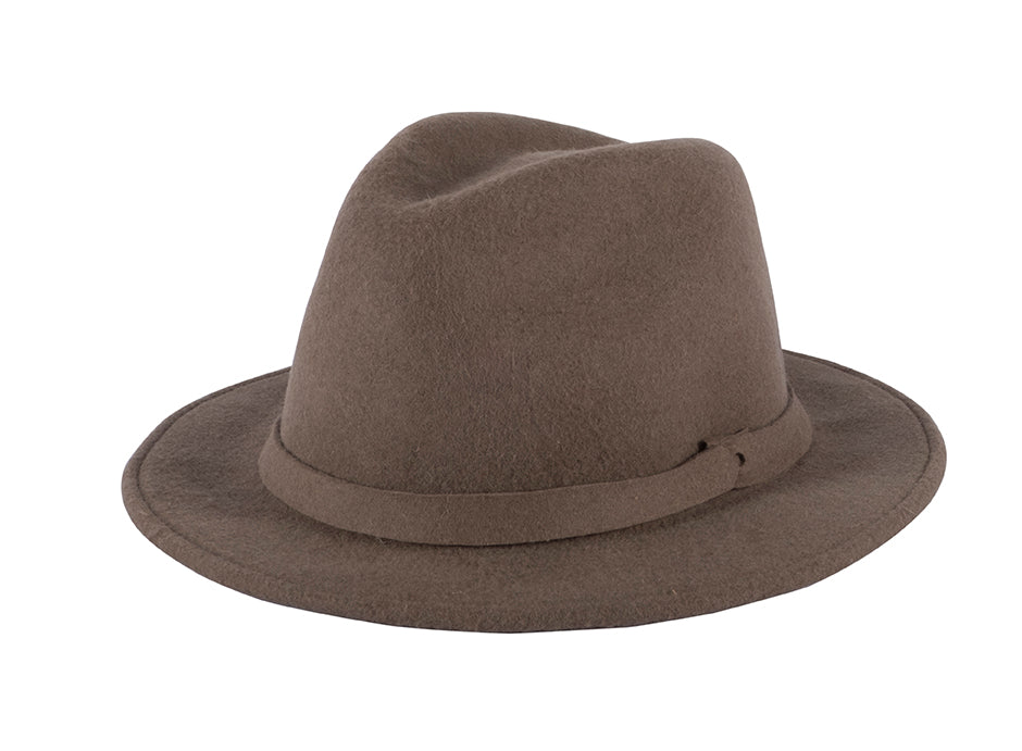 Felted Wool Fedora - Coffee