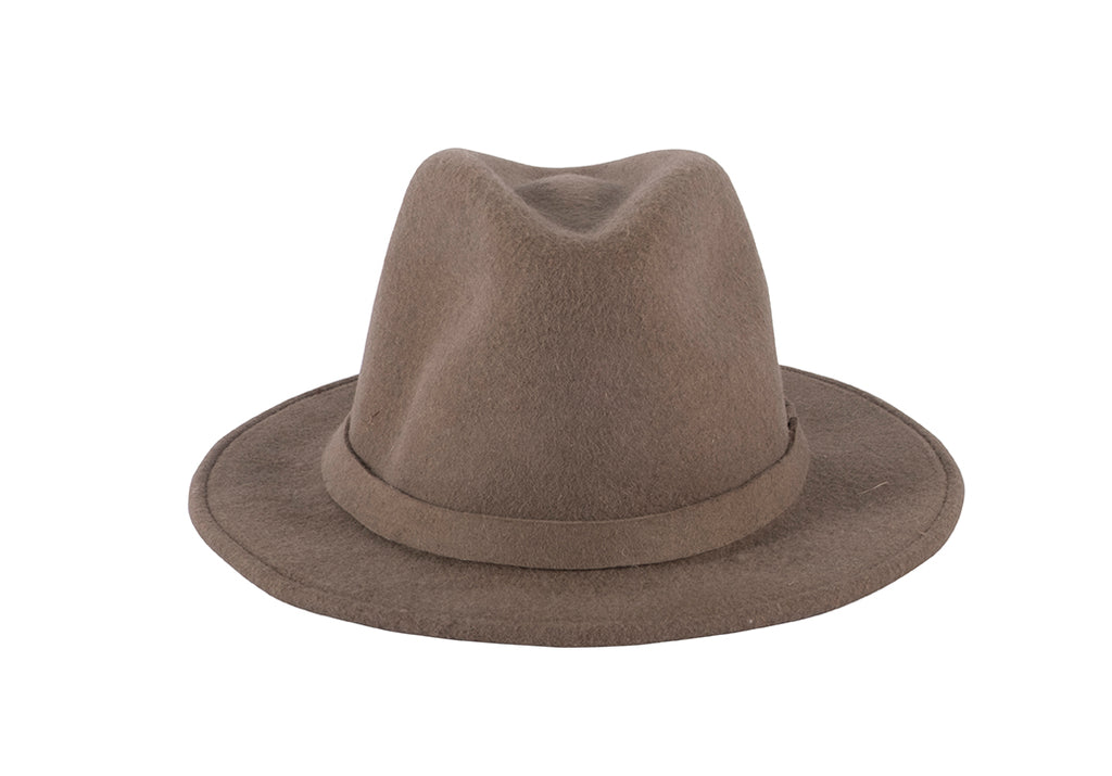Wool Fedora - Coffee
