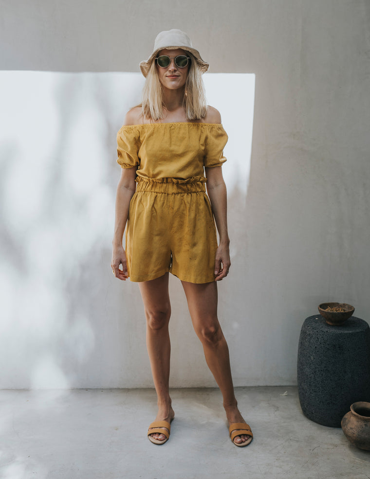 Hija Shorts - Saffron Yellow