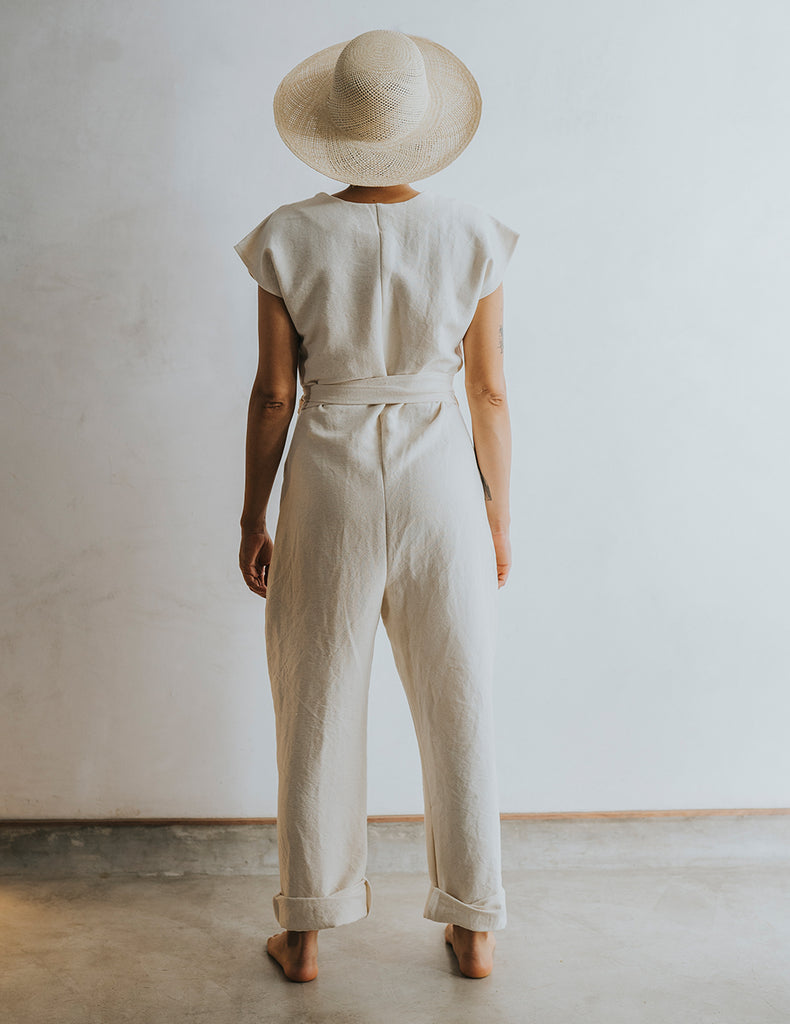 Hot Crossed Jumpsuit - Natural White