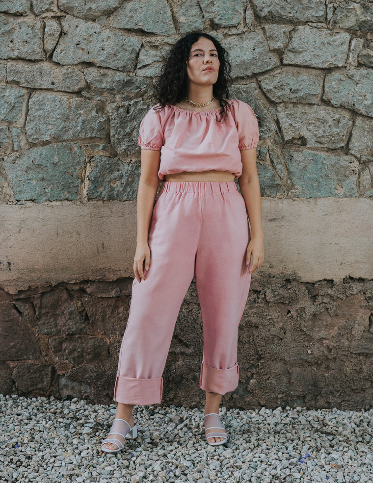 Straight Up Pant - Petal Pink