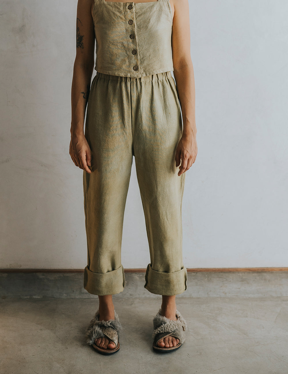 Straight Up Pant - Olive Green