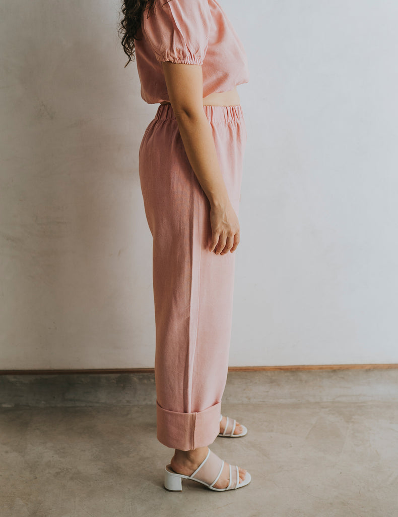 Straight Up Pant - Petal Pink (Size Small)