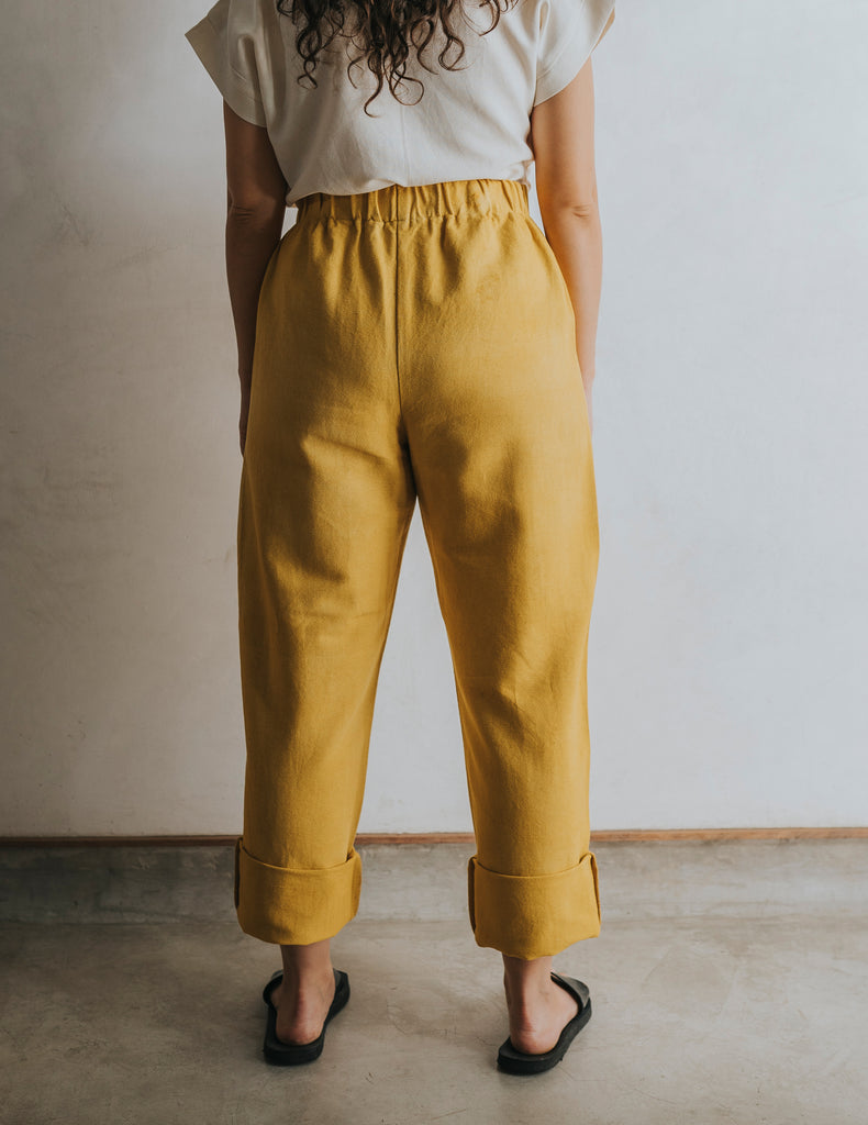 Straight Up Pant - Saffron Yellow (Size Medium)