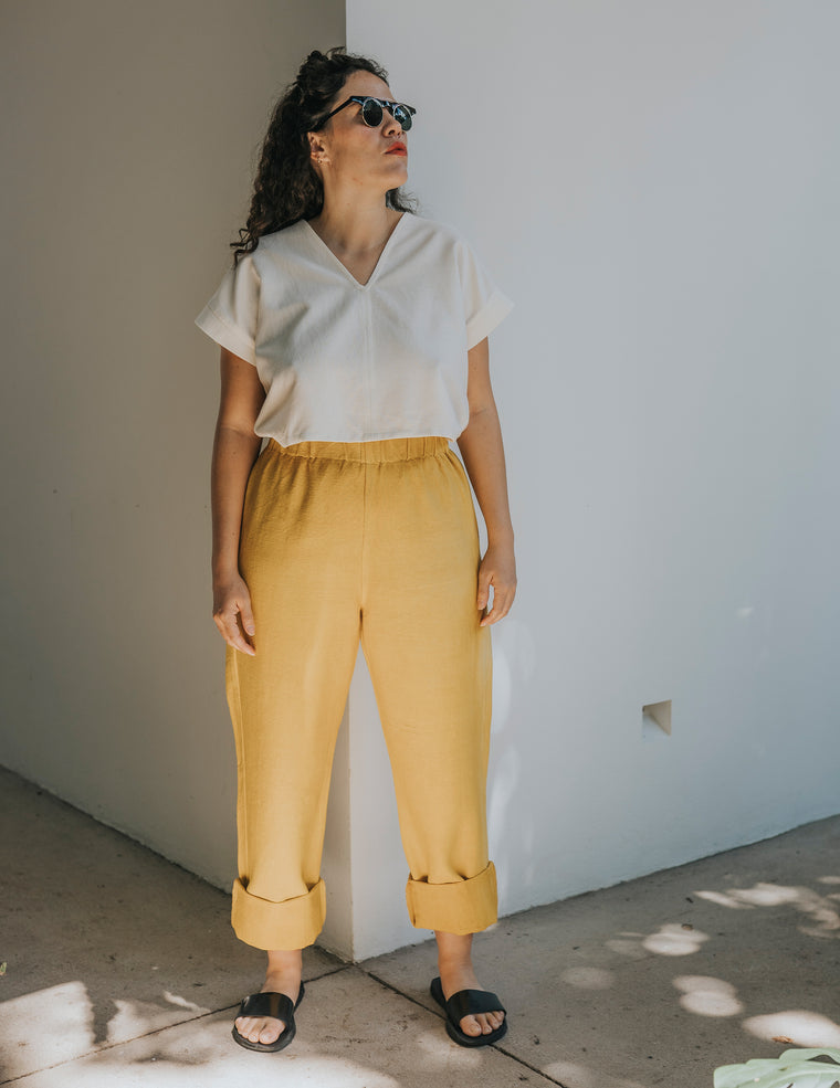 Straight Up Pant - Saffron Yellow
