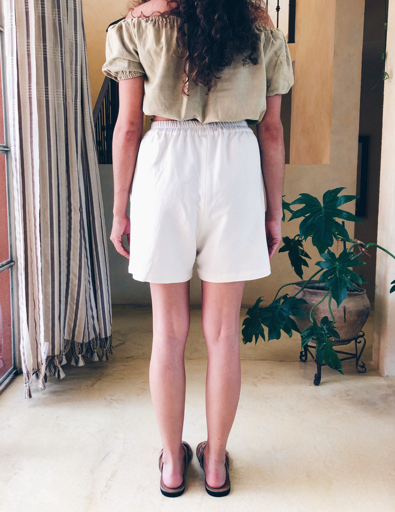 Mom Shorts - Natural White