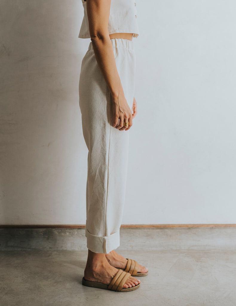 Straight Up Pant - Natural White