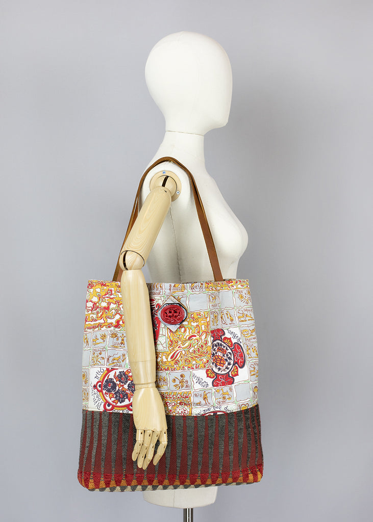 handmade tote bags grandmothers buttons