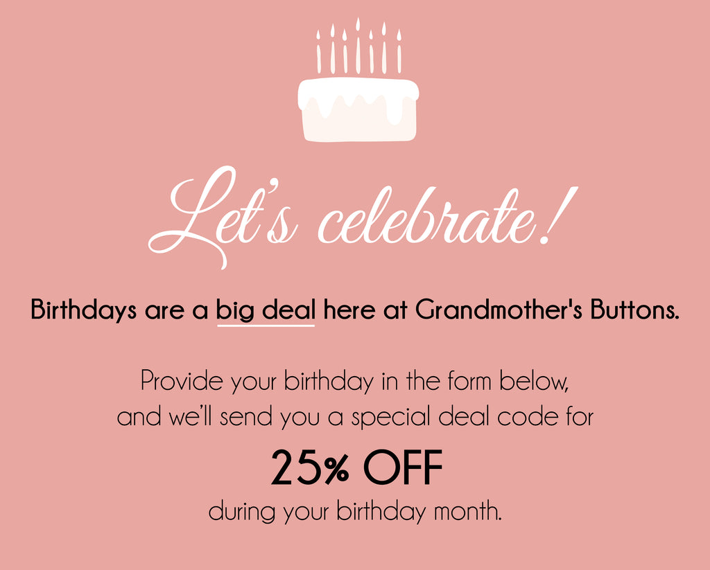 Birthday Deal Grandmothers Buttons