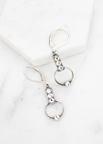 Art Deco Silver Drop Earrings