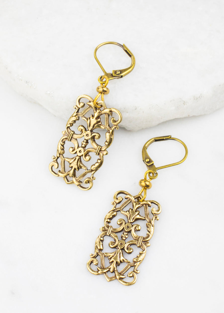 Brass Stamping Earrings