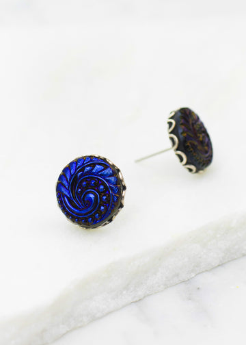 Czech Glass Post Earrings
