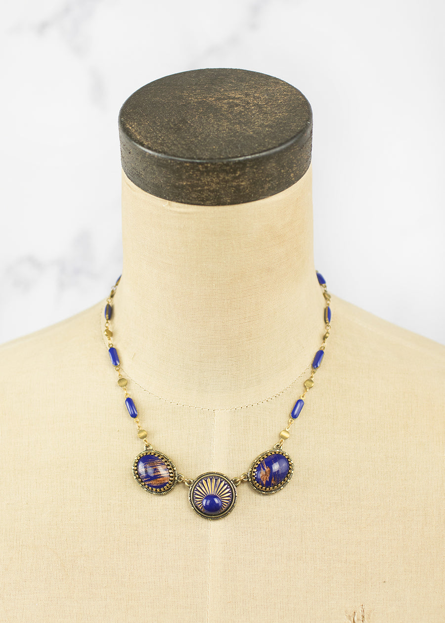 Handmade Necklace - West German & Goldfluss Vintage Glass