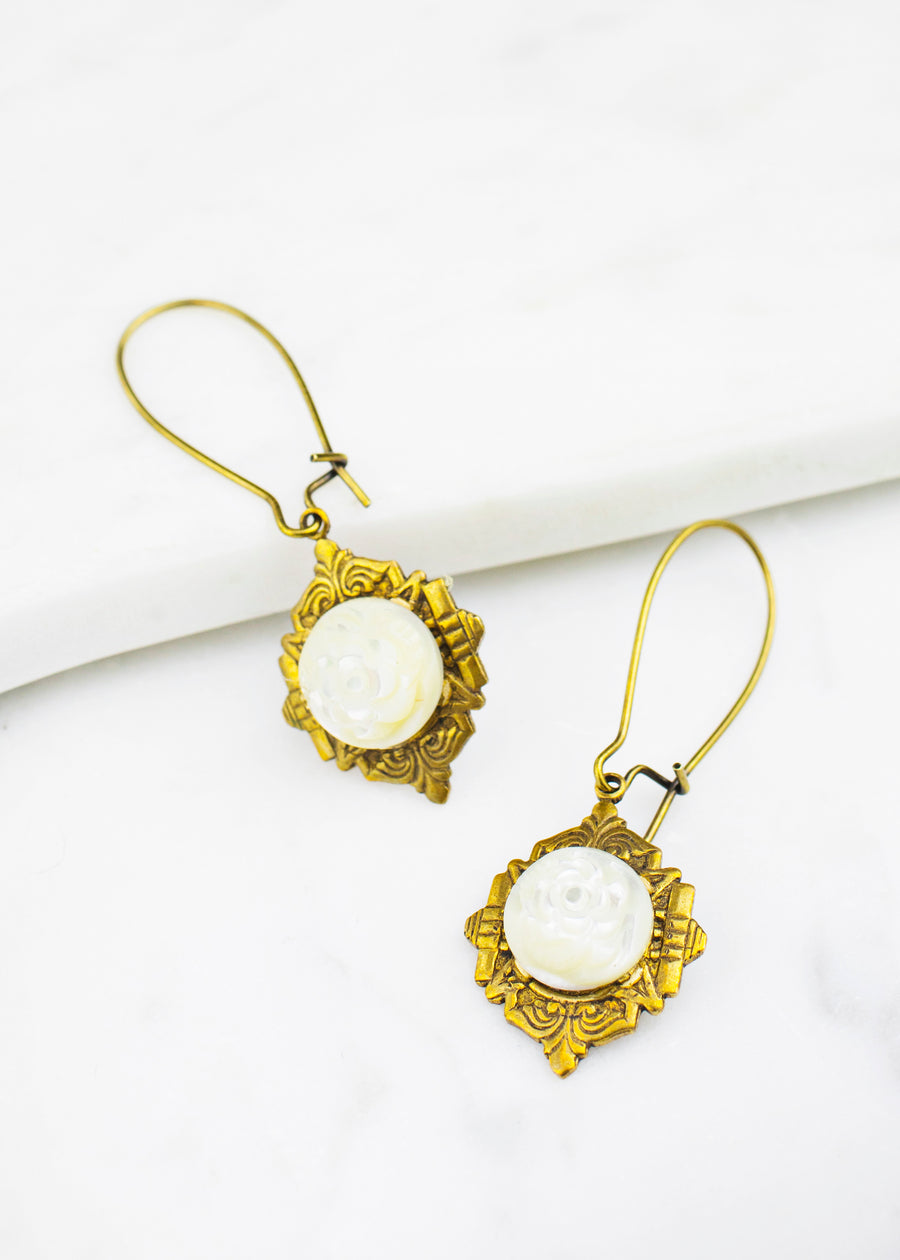 Deco Vintage Glass Earrings