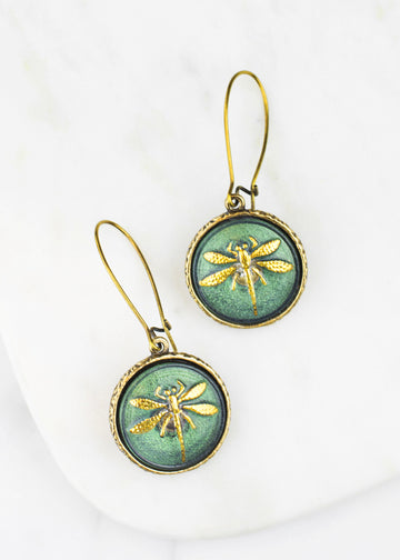 Glass Dragonfly Earrings