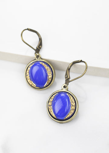 Drop Earrings-Czech Glass-Grandmother's Buttons