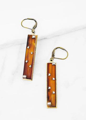 Vintage Glass Drop Earrings
