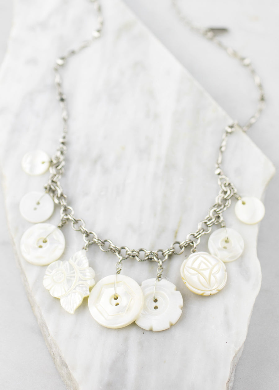 Necklace - Vintage Mississippi River Pearl Buttons