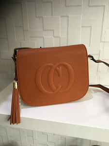 Tan Designer Inspired Shoulder Bag