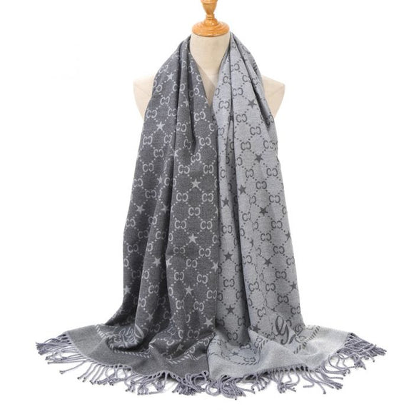 Grey Designer inspired scarf