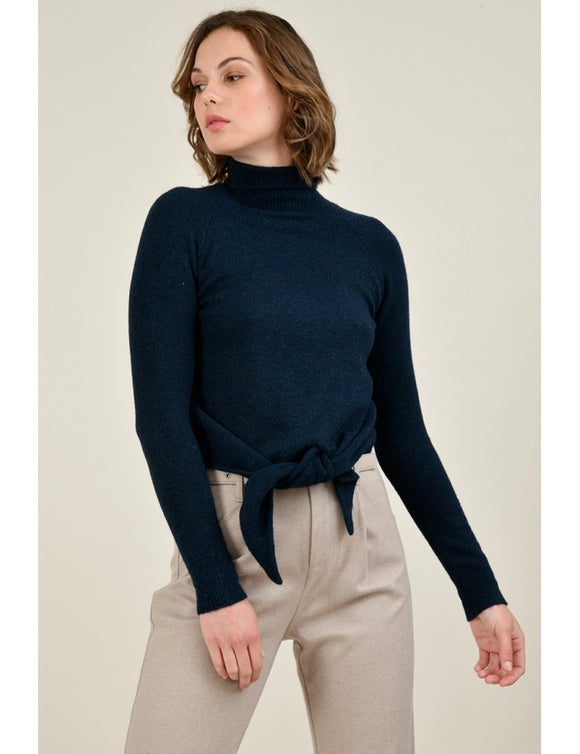 Roll Neck Tie Sweater