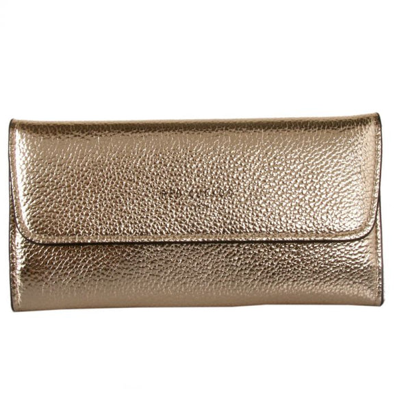 Gold Metallic Fold Over Purse