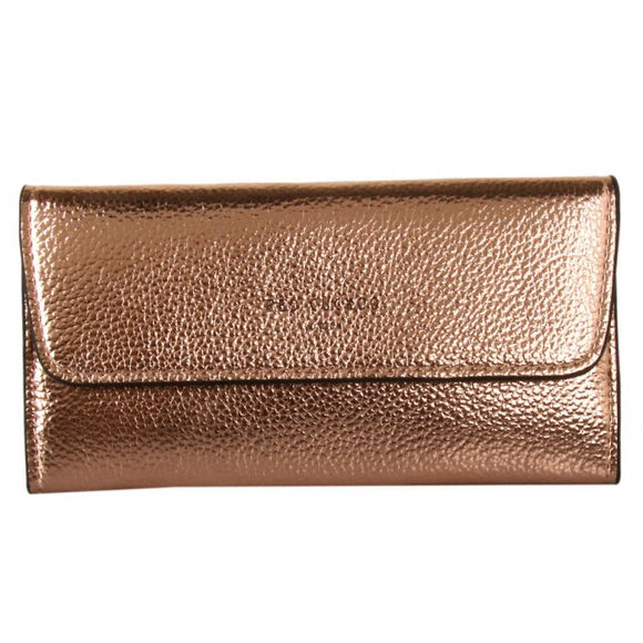Rose Gold Metallic Fold Over Purse