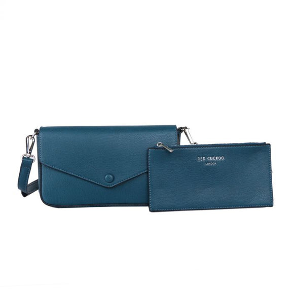 Teal Cross Body Bag With Matching Coin Purse