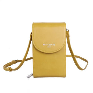 Yellow Cross Body Pouch