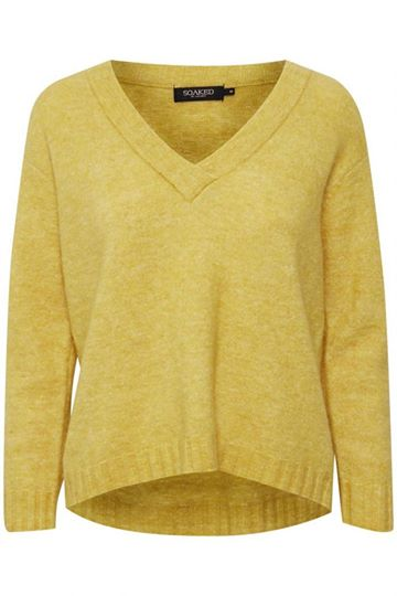 Yellow V-Neck Jumper