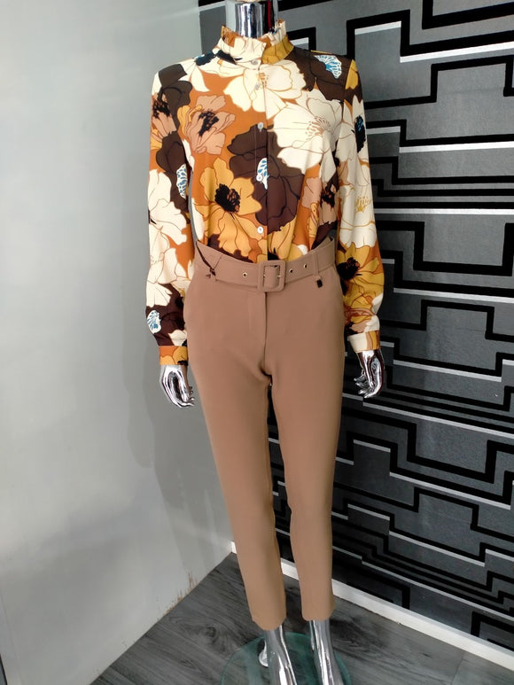 FLYGIRL CAMEL TROUSERS