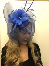 Colbalt Blue Fascinator with Net