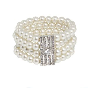 Opera Bracelet with double Diamante