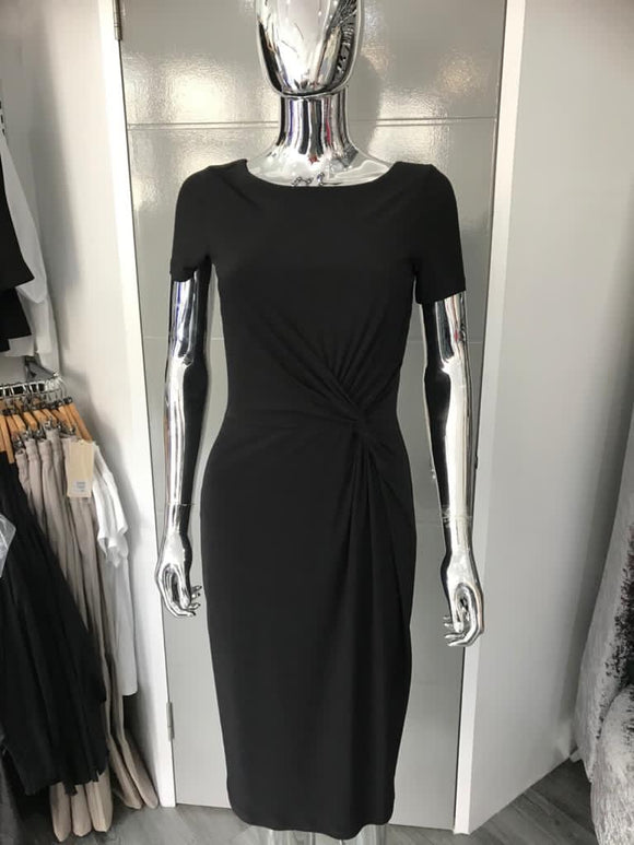 Black Ruched waisted Dress