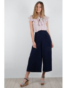 Wide Leg Culotte Trouser