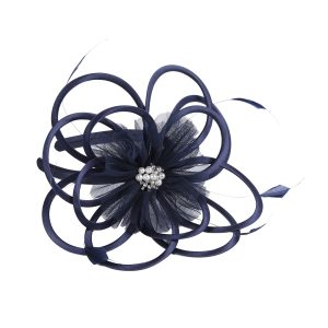 Navy & Pearl Fascinator