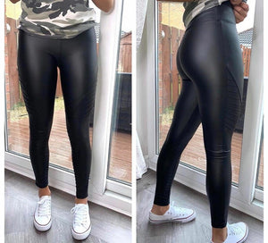 Katie Biker PU Leggings
