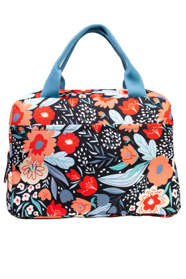 Medium Lunch Tote, Folk Floral