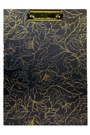 Clipboard, Linear Gold Floral