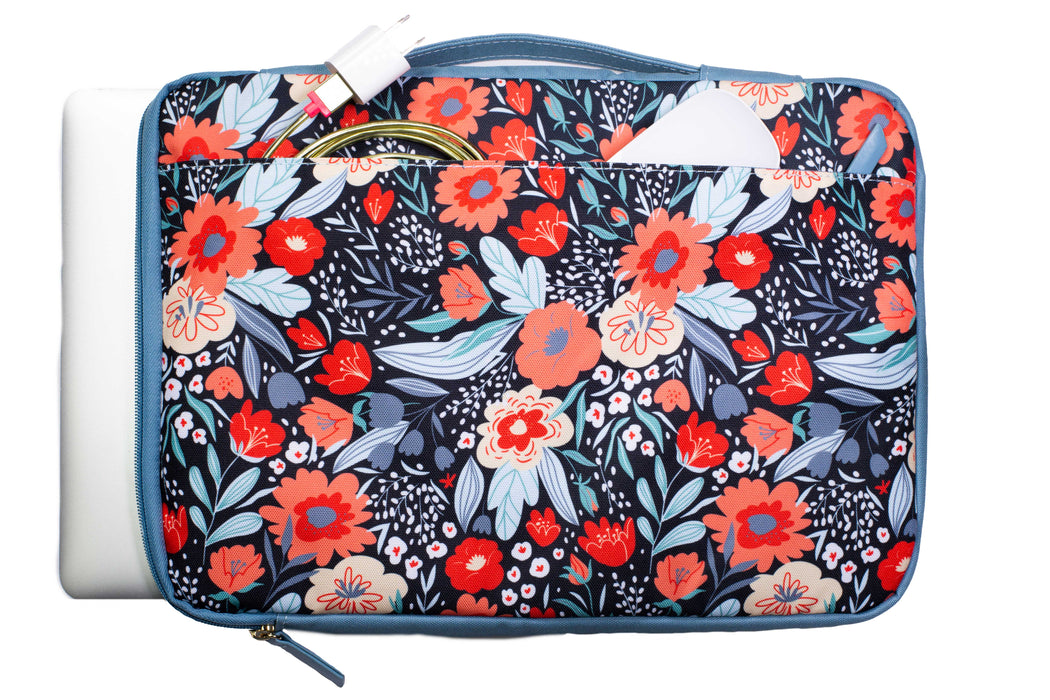 Laptop Sleeve, Folk Floral