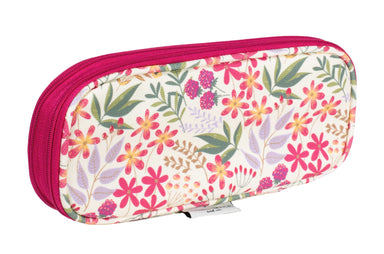 Collapsible Pencil Pouch, Wildflowers