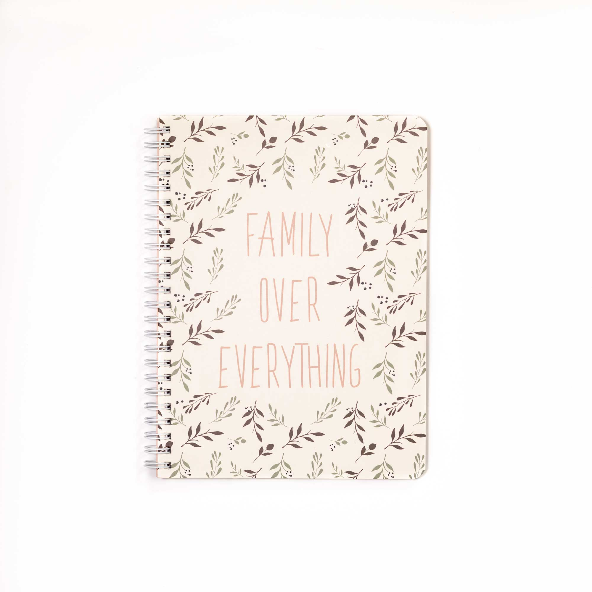 Mini Notebook & Pen Set, Family Over Everything