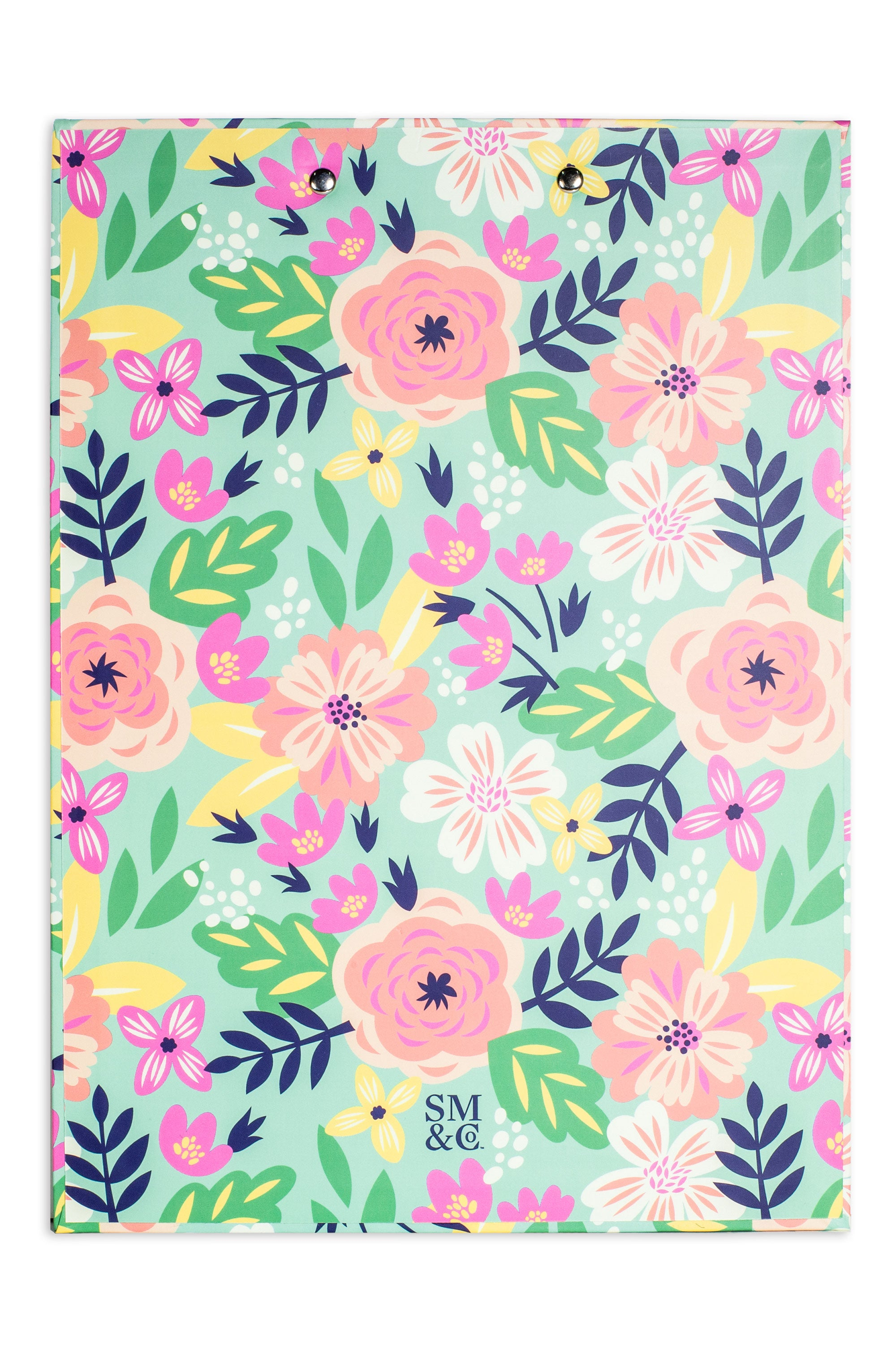 Mint Floral Clipboards